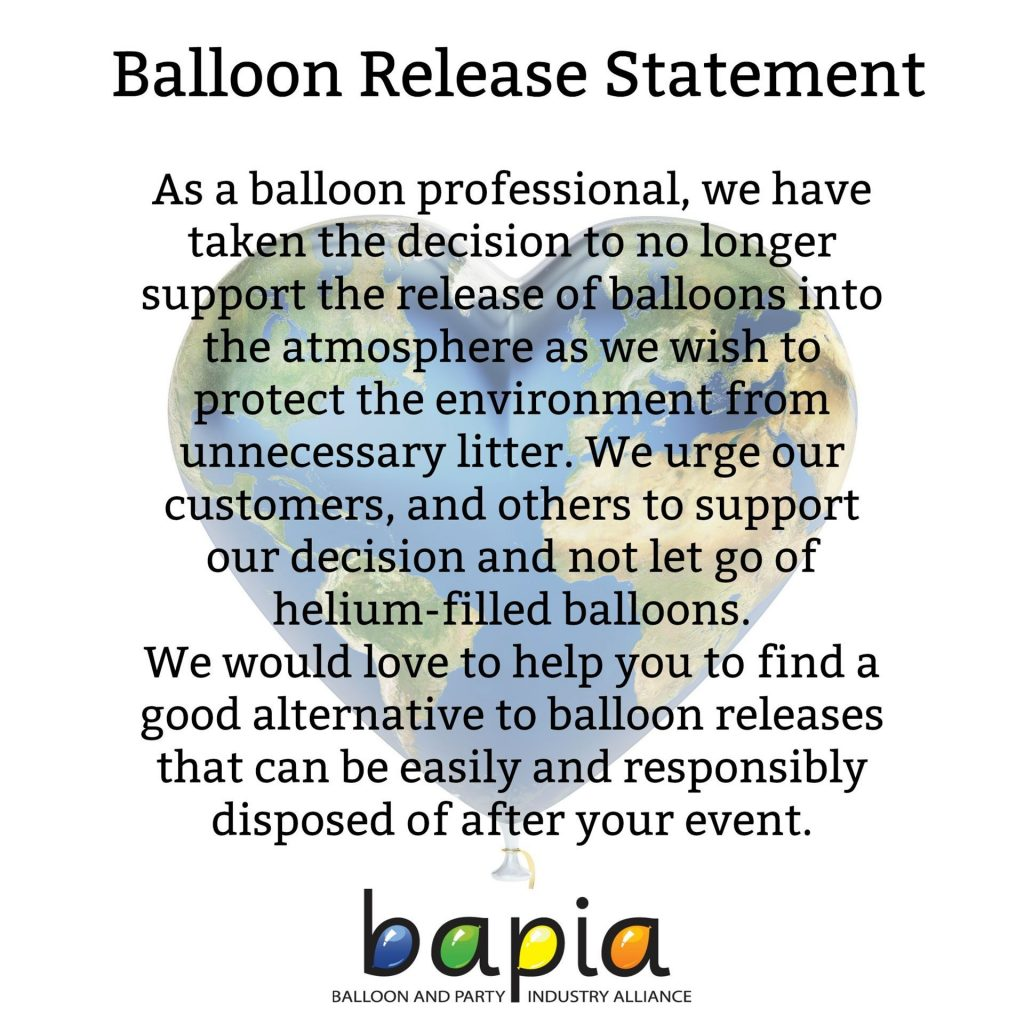 Twisted Creations - Balloon Release Statement